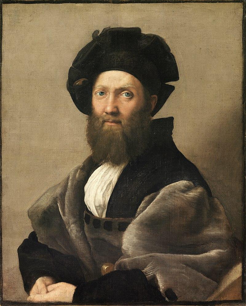 800px-Baldassare_Castiglione,_by_Raffaello_Sanzio ca 1514-1515