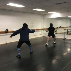 Steve and Will fencing smallsword