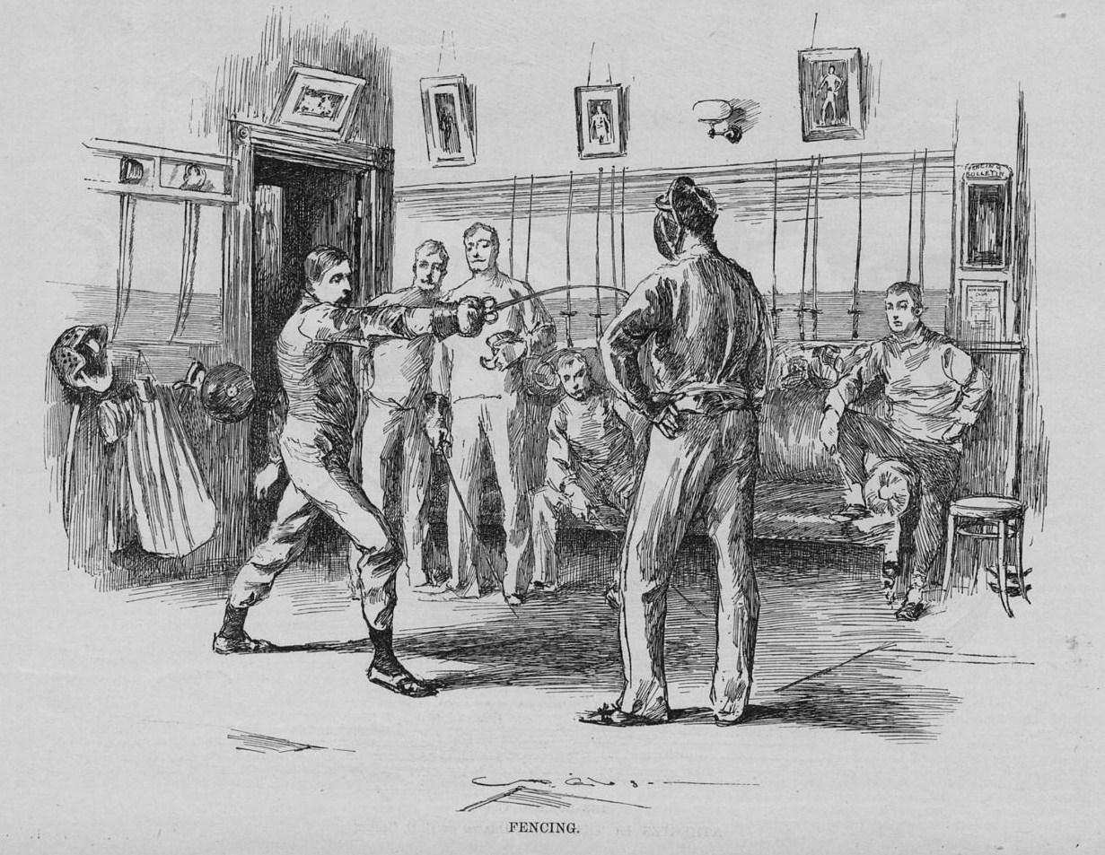 FENCING published in Harper's Weekly June 1890