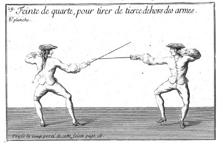 Girard feint from quarte